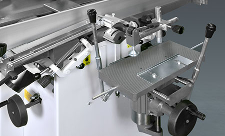 Optional Extra: Morticing unit which attaches to the back of the machine. Robland Planer Thicknesser NXSD
